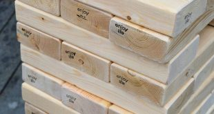 Love Bug Living: DIY Giant Jenga Outdoor Game - Fun party game.  Thinking you co...