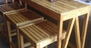 Build your own DIY Sutton Custom Outdoor Bar Stools with this step by step tutor...