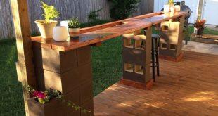 Diy Outdoor Cinder Block Bar Cinderblock baroutdoor ideas