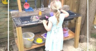 Eine Matschküche aus alter Palette ist eigentlich ganz einfach. Ein kleines DIY...