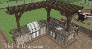 Outdoor-Kitchen-with-Pergola-Design B48-160121-1