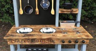 Schlammküche, druckbehandelter Rahmen, komplett montiert, in verschiedenen Höhen erhältlich