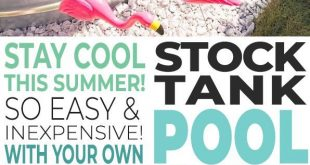 Stay Cool with a DIY Stock Tank Pool!