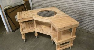 Big Green Egg Table Plans 				 															 				   				 				 Woodworking Tabl...