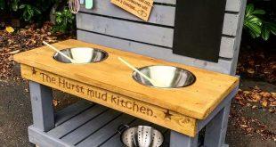 Childs Personalised Mud Kitchen | Solid Oak Designs