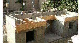 DIY Beton Cinder Blocks Outdoor Barbecue Küche - Crystal