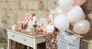 Inspirationen für eure Dekoration vom Geschenketisch bis zum Sweet Table