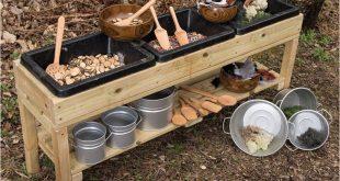Triple Treasure Table - Mud Kitchens - Outdoor Pla... - #Kitchens #messy #Mud #O...