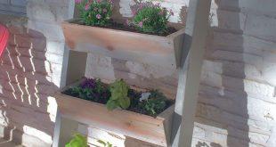 einfache Leiter Pflanzer ana weiß Pläne DIY, wie man baut