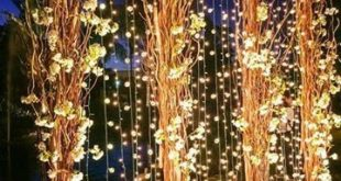 luxury wedding arch with hanging bulbs - #arch #Bulbs #Hanging #indianwedding #l...