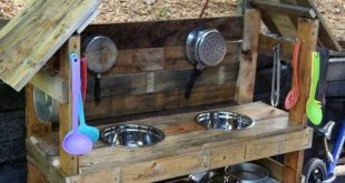 10 lustige Outdoor-Schlammküchen für Kinder • Gartenideen