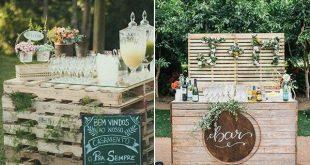 24 DIY Land Hochzeitsideen mit Paletten, um Budget zu sparen #budget #hochzeitsi...