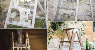25 perfekte Hochzeitsdekoration Ideen mit Vintage Leitern