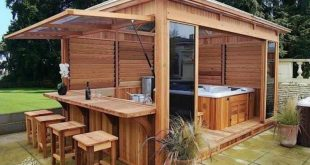 30+ Lovely Outdoor Hot Tub Privacy Ideas