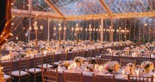 Austin Hochzeit mit vier Jahreszeiten elegant beleuchtet