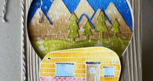 Creating a Scene with Stampin Up Glamper Greetings and Outdoor Adventure Frameli...