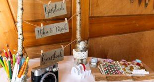 DIY - Gästebuch für die Hochzeit - Ein besonderer Gästebuch-Tisch › Anleitungen, Do it yourself, Hochzeit › Dekoration Hochzeit, DIY Hochzeit, Gästebuch, Gästebuch Hochzeit, Hochzeit, Ideen Hochzeit