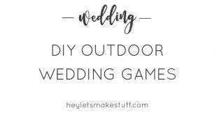 DIY Outdoor-Hochzeitsspiele