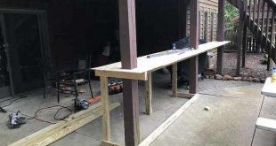 DIY outdoor patio bar under deck