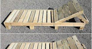Diese Holzpaletten-Sonnenliege ist ein einfaches aber das attraktivste Holzpalet...