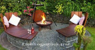 Eine Herrausforderung dieses Jahr war unser neuer Grillplatz. Runde Gabionenbä...