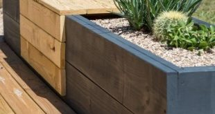 How to Make a Chic Modern Planter Bench - Planters - Ideas of Planters #Planters...
