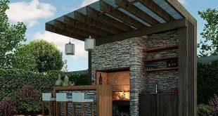 """Ideen für die Gestaltung von Outdoor-Küchen #findkitchendesigns # """"outdoorkitchenappliancespictures"""""""