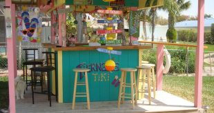 Key West Style Tiki Hut For Sale $569,000. Included is a 4/3 waterfront home wit...