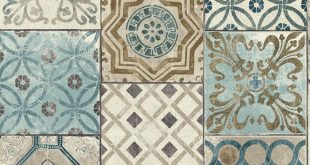 Moroccan Tile Peel-and-Stick Wallpaper in Neutrals and Greys by NextWa