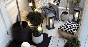 Outdoor furniture in a small space