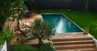 Pool, deck and BIG green space