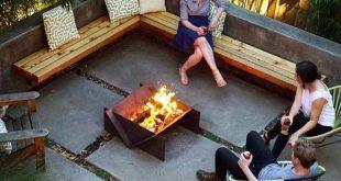 Top 50 der besten Patio-Feuerstelle-Ideen - leuchtende Außenraum-Designs  #best...