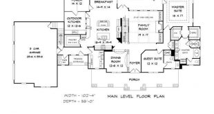 Traditional Style House Plan 58272 with 4 Bed, 5 Bath, 3 Car Garage