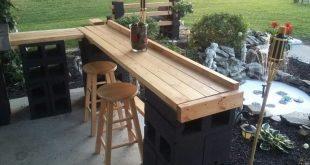 Unglaubliche DIY Outdoor Bar Ideen – decoratoo. Wie schön wäre diese Bar in