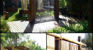 Verwandeln Sie Ihren Garten mit diesem modernen Regenduschbrunnen in einen fanta...