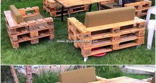 Wunderbare Kreationen aus recycelten Paletten #kreationen #paletten #recycelten … #WoodWorking