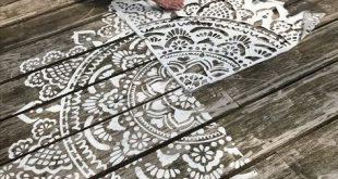 mandala stencils holy mandala D.I.Y. make your own mandala www.mandala-stenc… #WoodWorking